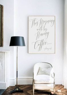 Art Print This Morning with Her Having Coffee by JolieMarche