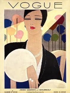 Vintage Vogue Covers, 1928 #VintageVogueCoversKisyovaLazarinova
