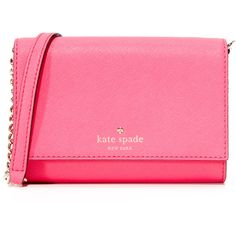 Kate Spade New York Cami Cross Body Bag (10,065 INR) ❤ liked on Polyvore featuring bags, handbags, shoulder bags, kate spade handbag, pink shoulder bag, pink cross body purse, pink crossbody purse and crossbody purses