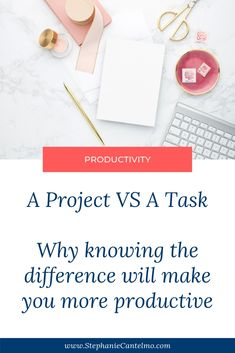 A Project Vs A Task — Why knowing the difference will make you more productive — Stephanie Cantelmo Online Entrepreneur, Business Entrepreneur, What Is A Project, Create A Hashtag, Productivity Challenge, List Of Hashtags, Feeling Discouraged, Twitter Tips, Social Media Video
