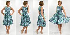 DIY: A Princess styleline cocktail dress, with a full circle skirt http://www.pracowniajanlesniak.pl/en/diy-a-princess-styleline-dress-with-full-circle-skirt/