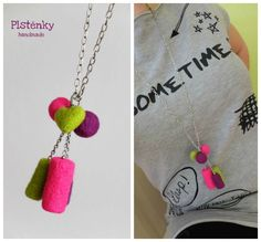 Crazy neon felt necklace Www.facebook.com/plstenky