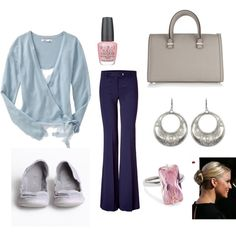 BLUE AND GRAY, created by jenhaught.polyvore.com