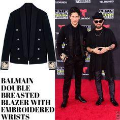 Jesus Alberto Miranda Perez 'Chino' y su blazer de Balmain con detalles bordados