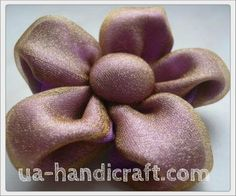 FABRIC ORGANZA RIBBON FLOWER DIY:  Fabric Flower with their hands