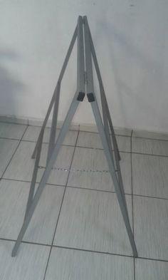 cavalete dobrável ferro 30x20 galvanizado 1 metro de altura