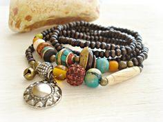 Yoga Bracelet  Yoga Jewellery  Boho Jewellery  by HandcraftedYoga, $43.00