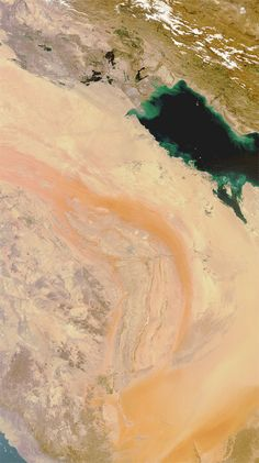 Sandstorm over Saudi Arabia (click for larger version)