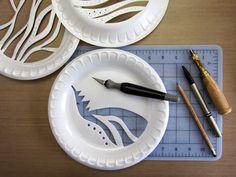 Printing with Gelli Arts®: Gelli™ Printing with Styrofoam Plates Here's h. Printing with Gelli Arts®: Gelli™ Printing with Styrofoam Plates Here's how: Place a styrofoam plate on a cutting s Styrofoam Plates, Styrofoam Recycling, Impression Textile, Gelli Plate Printing, Gelli Arts, Arts And Crafts, Paper Crafts, Foam Crafts, Spray Paint Art
