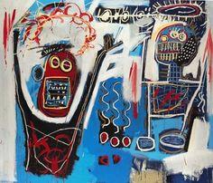 Palm Springs Jump (1982)  Peinture sur toile 214x183 cm,  Jean-Michel Basquiat © DR  http://www.artactuel.com/artiste-contemporain-confirme/basquiat-jean-michel-7/oeuvres/palm-springs-jump-152.html