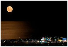 Full moon looks spectacular in Durban! Under The Same Moon, Our Love, South Africa, Night, Hampers, Places, Outdoor, Full Moon, Gifts