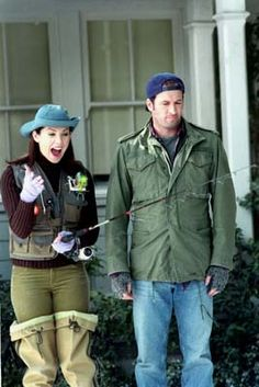 Luke: You look ridiculous. Lorelai: I look adorable. No one ever told me that if you fish, you get to buy an outfit. I'll do just about anything if I can buy an outfit.