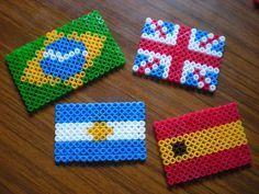 Resultat De Recherche D Images Pour Hama Drapeau Bresil Perler Bead Patterns Hama Beads Flag Beads