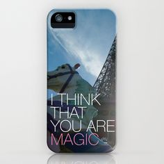 Some fashionable inspiration and new trends for your online birthday or christmas shopping spree. Paris magic love typography quotation iPhone & iPod Case by Little Smilemakers Studio - $35.00