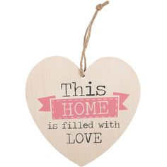 World's Best Wife - Sentimental Wooden Hanging Heart Plaque Sign Wall Plaques, Wall Signs, Shabby Chic Hearts, Wing Wall, Angel Wings Wall, Budget, Sign Display, Decorative Signs, Hanging Hearts