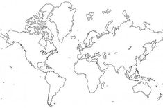The Best World Map Coloring Page : Kids Play Color