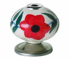 Pomo de cerámica INDIA ROJO