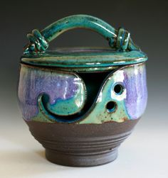 Kitty-Proof Yarn Bowl.  Ocpottery via Etsy.