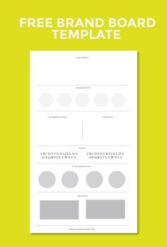 Personal branding business plan template