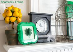 shamrock craft + St. Patrick's Day decor