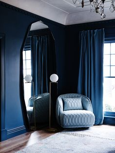 Pantone has released the interior design color trends for 2017 and the earthy tones are the winners! Be inspired by the color schemes that'll be huge next year. Colorful Interior Design, Decor Interior Design, Room Interior, Modern Design, Dark Blue Rooms, Decoration Inspiration, Interior Inspiration, Interior Ideas, Decor Ideas
