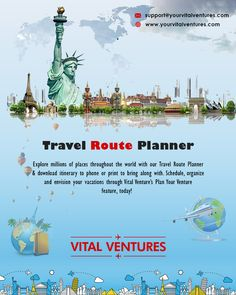 With vital ventures, you can explore millions of places throughout the world. You can schedule travel route planning, organize and envision your vacations through travel route planner with just a few simple steps. Itinerary Planner, Route Planner, Travel Planner, Trip Planner, Travel Route, Us Travel, Live Map, Best Wifi, Best Family Vacations