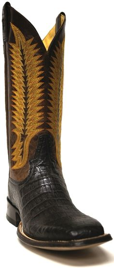 New to STT -- Men's Rod Patrick Cigar Caiman Belly Square Toe Boot -- These cowboy boots are classy and sophisticated…perfect for any special occasion! | SouthTexasTack.com