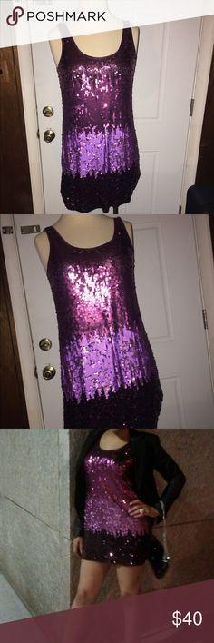 Ombré purple sequin dress Ombré sequin purple dress. Size small. Great condition. Express Dresses Mini