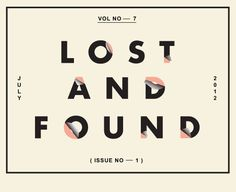 Image result for lost and found graphic design