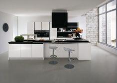 cuisine blanche et noire