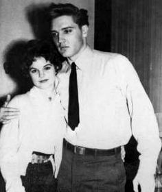 The first meeting of Elvis and Priscilla Beaulieu in september 13 1959 in Germany.
