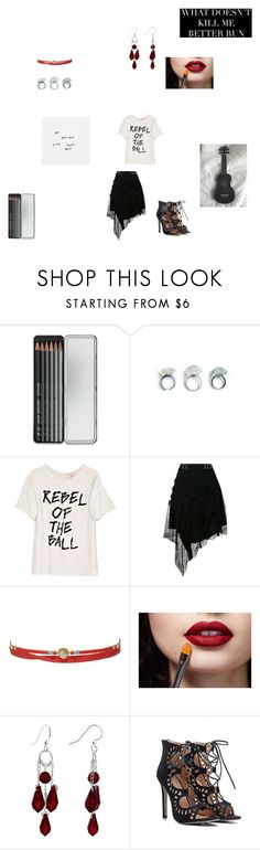 """Dripped off her lips"" by autonomic ❤ liked on Polyvore featuring Caran d'Ache, Ashish, Carven and Chan Luu"