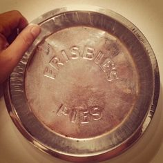 Original Frisbie Pie Tin Frisbee Flying Disc Pie Pie Tin, Flying Disc, Disc Golf, Chains, York, City, Outdoor, Outdoors, City Drawing