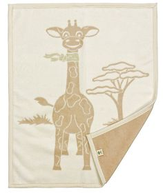 Organic Cotton Childrens Blanket - Gringo the Giraffe