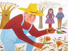 Vintage School Poster Gardener Farmer Color by vintagegoodness