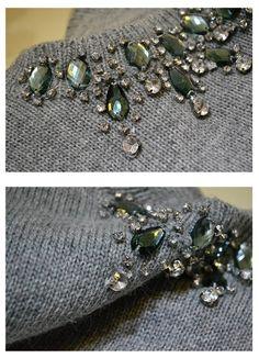 Suéter de Lã com Pedrarias                                                                                                                                                                                 Mais