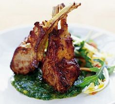 Lamb chops with Indian spices