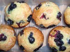 Light Blueberry Muffins- sub vanilla yogurt with coconut yogurt (vanilla flavored)