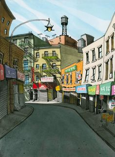 chinatown by tommy kane #illustrations