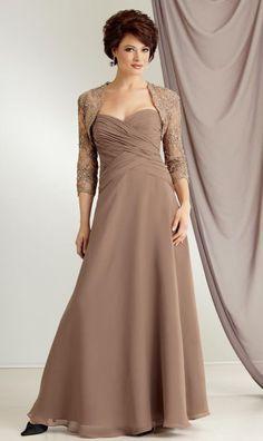 estelles mother of the bride dresses | ... 6020 by Jordan Mother of the Bride Dress with Lace Jacket image