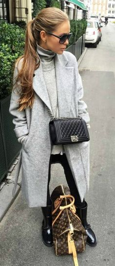 Monochromatic outfit.