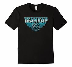 Team Cap Civil War Superhero T-Shirt Blue distress metal:  #TeamCap