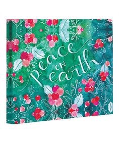 One Bella Casa Peace On Earth by Ana Victoria Calderon Graphic Art on Wrapped Canvas Size: Canvas Size, Canvas Art, Canvas Prints, Feather Symbolism, Painting Prints, Art Prints, Peace On Earth, Watercolor Design, American Artists