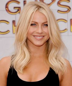 Julianne Hough Hairstyle - Long Straight Casual - Light Blonde