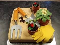 Image result for gardening birthday cakes