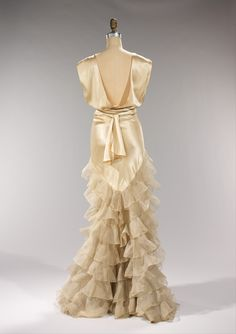 Evening Dress, Irene (American): ca. 1935, American, silk.