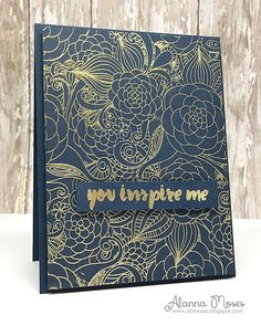 handmade greeting card ... DT Projects for TupeloDesignsLLC  ...  Embellish Craft Love ... nae with gold embossing ... luv the line art background stamping ...