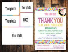 Photo blitz card, Photo thank you card, Clothing Sales card, Honeycomb Thank card, Fashion consultant card, Fashion retailer card, Care Card by TheWrightInvite on Etsy