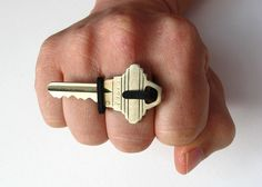 Keon V1, a 3D printed ring that holds a key by David Tsai