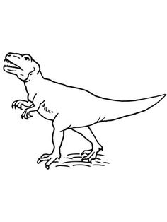allosaurus theropod dinosaur coloring page from allosaurus category select from 20946 printable crafts of cartoons